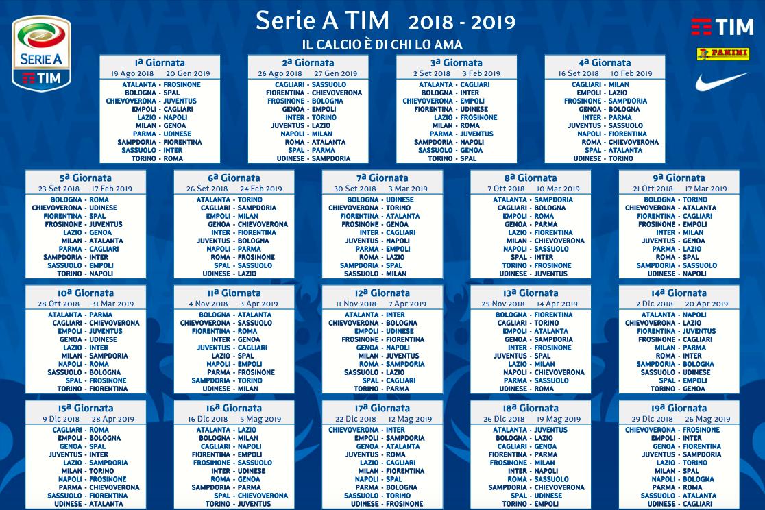Calendario Seirie A.Calendario Serie A Su Sky E Dazn Lazio Anticipi E