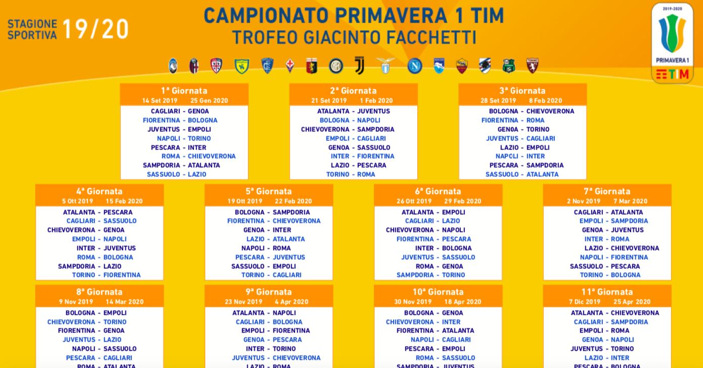 Calendario Lazio.Lazio Primavera Il Calendario Del Campionato 2019 20