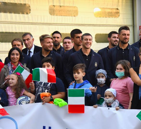 ITALIA, Domani gli azzurri in visita al Bambin Gesù