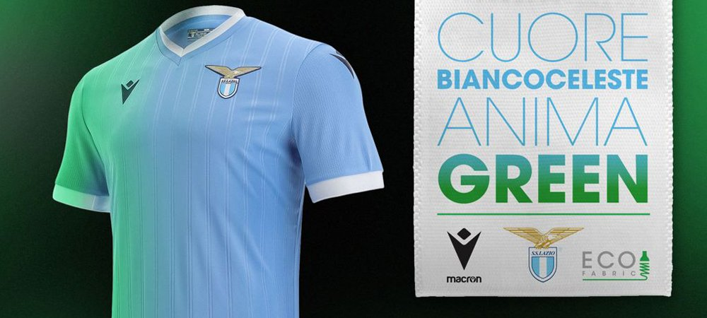 Lazio, la maglia Home 2021/22 è proprio verde, anzi... Green! Il ...